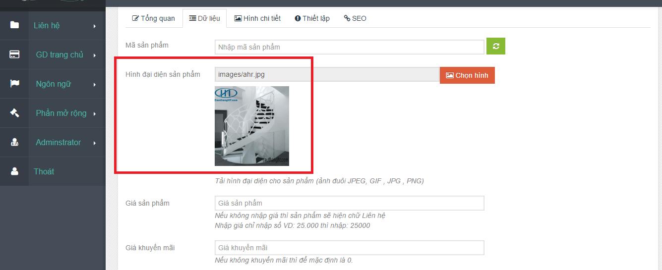 hướng dẫn thêm sản phẩm vào web-4