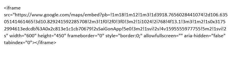 code mẫu iframe google maps