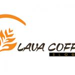 Logo shop hoa và cafe Lava