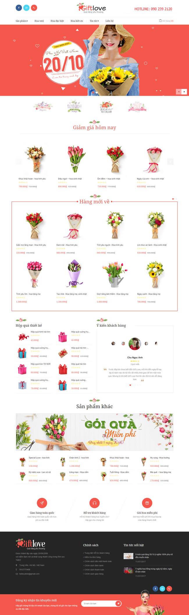 web bán hoa demo