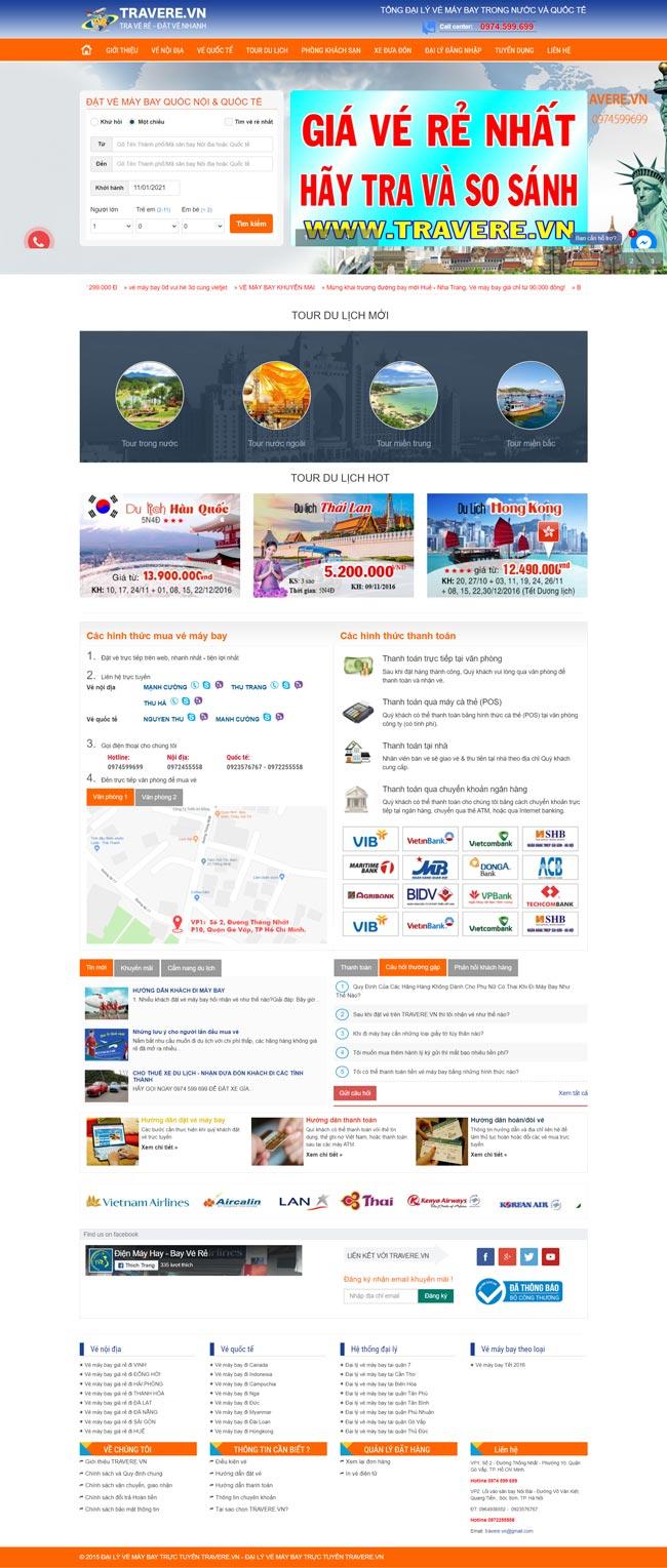 website bán vé máy bay - vietjet air-vietnam airlines-jetstar-demo