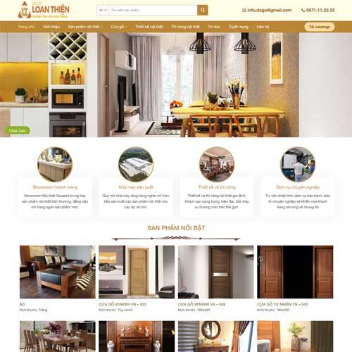 Mẫu web công ty chuyên ngành nội thất số 1