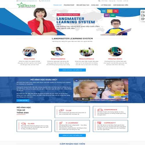 Mẫu web giáo dục, trường học, trung tâm đào tạo số 4
