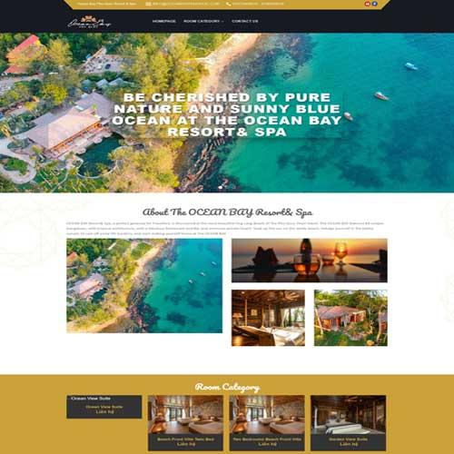 Mẫu web khách sạn số 6