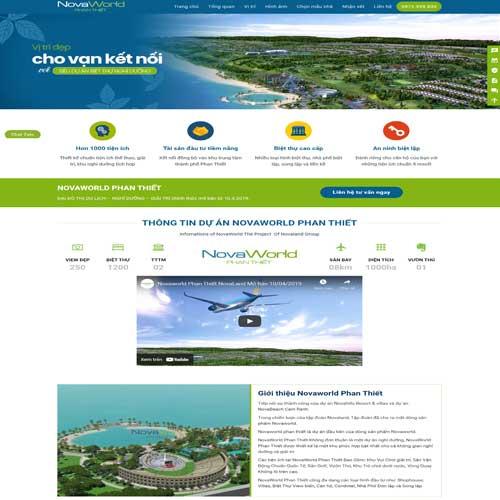 Mẫu website công ty bất động sản số 7