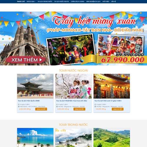 Mẫu website công ty du lịch số 3