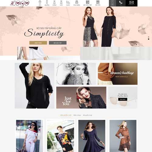 Mẫu website công ty thời trang số 2