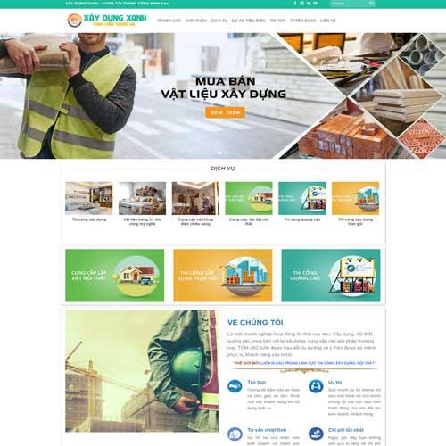 Mẫu website công ty xây dựng số 9