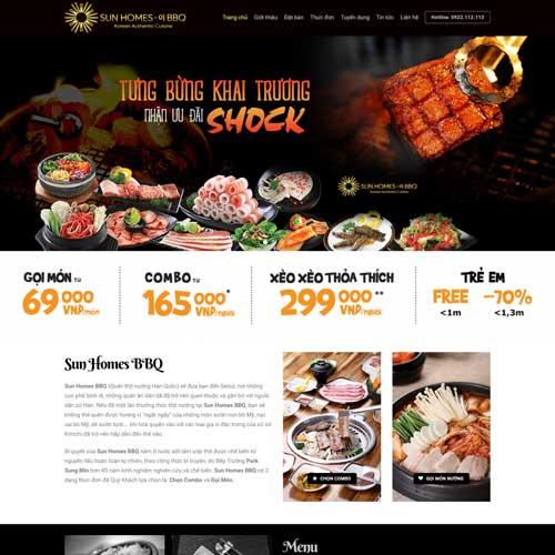 Mẫu website nhà hàng số 5