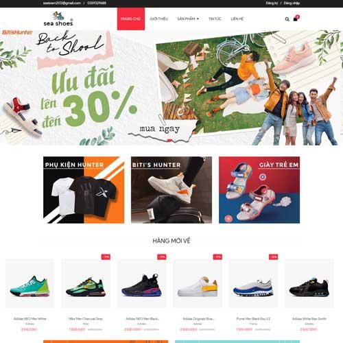 Mẫu web bán giày dép big shoe demo