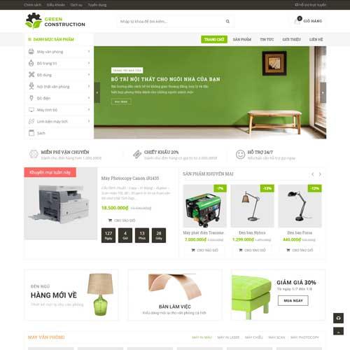 Mẫu website bán nội thất furniture demo