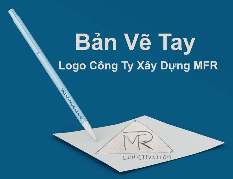 Bản vẽ tay logo công ty xây dựng MFR