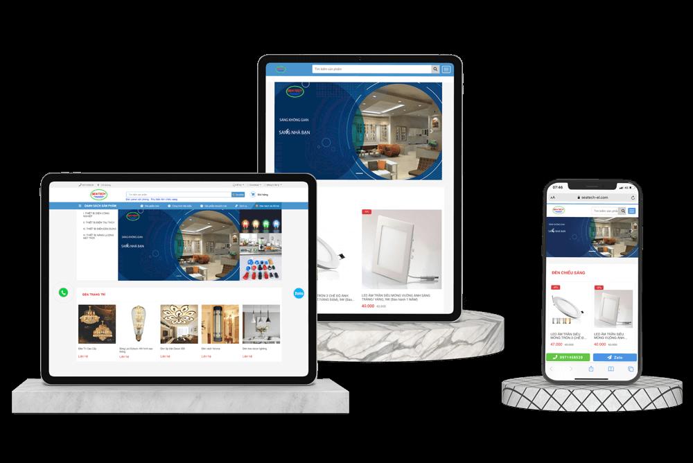 Dự án website bán thiết bị chiếu sáng của công ty tnhh thương mại dịch vụ kỹ thuật SEATECH
